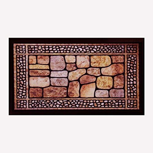 Tapete Bem-vindo Fenice Colorful 70cm x 40cm Pedras - Bella Casa