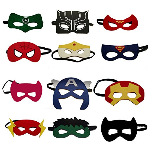 Superhero Party Masks for Kids | Includes the
