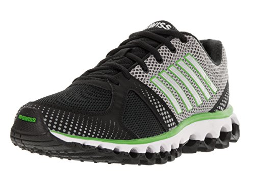 k-swiss-mens-x-160-cmf-cross-training-shoes-9-dm-us-black-neutral-gray-flash-green-mesh