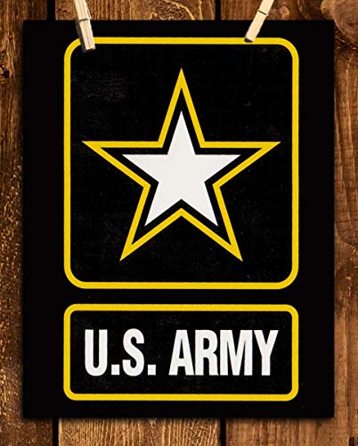 (US Army Star Logo Poster Print- 8 x 10
