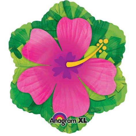 - 15 Inch Pink Hibiscus Shape Balloon