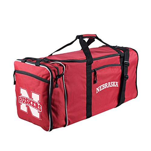Nebraska Cornhuskers Sport Duffle Bag (Officially Licensed NCAA Nebraska Cornhuskers Steal Duffel Bag)