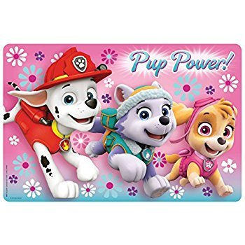 Zak! Designs Placemat with Paw Patrol Graphics, BPA-free Plastic (Puppies Placemat)