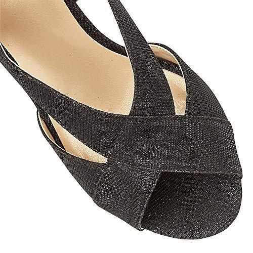 Noir pour Sandales Noir Femme Lotus 7p65t8xnp