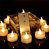 12pcs Flameless Tea Lights Candles with Remote Control Led Flickering Romantic Warm White Candles Small for Wedding Holiday Season Decoration