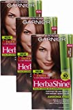 Garnier HerbaShine Hair Color, 632 Light Warm Brown (Pack of 3)