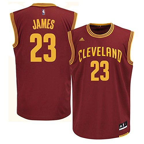 23_LeBron_James Cleveland_Cavaliers Mens Road Swingman Jersey Wine color Size (Lebron James Authentic Home Jersey)