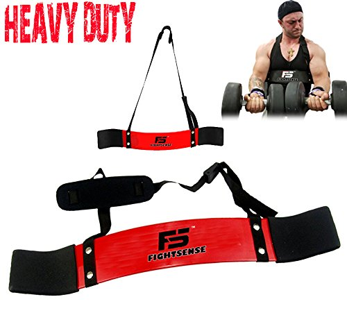 FS Arm Blaster Biceps Curl Triceps Muscle Isolator Bomber Fitness Gym Workout Training Support Red