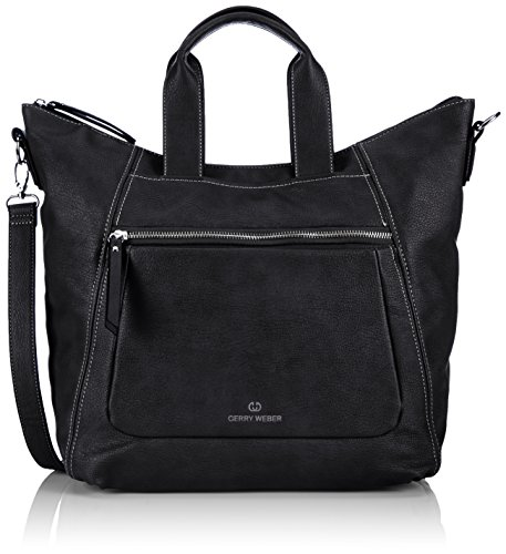 Gerry Weber Free Mind Shopper 4080002804 Damen Shopper 34x19x13 cm (B x H x T), Schwarz (black 900)