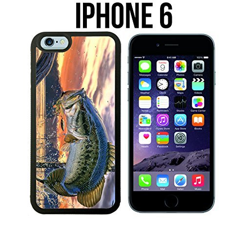 Innosub Custom iPhone 6/6S Case (Pro Bass Fishing)| Edge-to-Edge Snap-On Cover with Shock and Scratch Protection | Lightweight, Ultra-Slim | Includes HD Tempered Glass and Stylus Pen