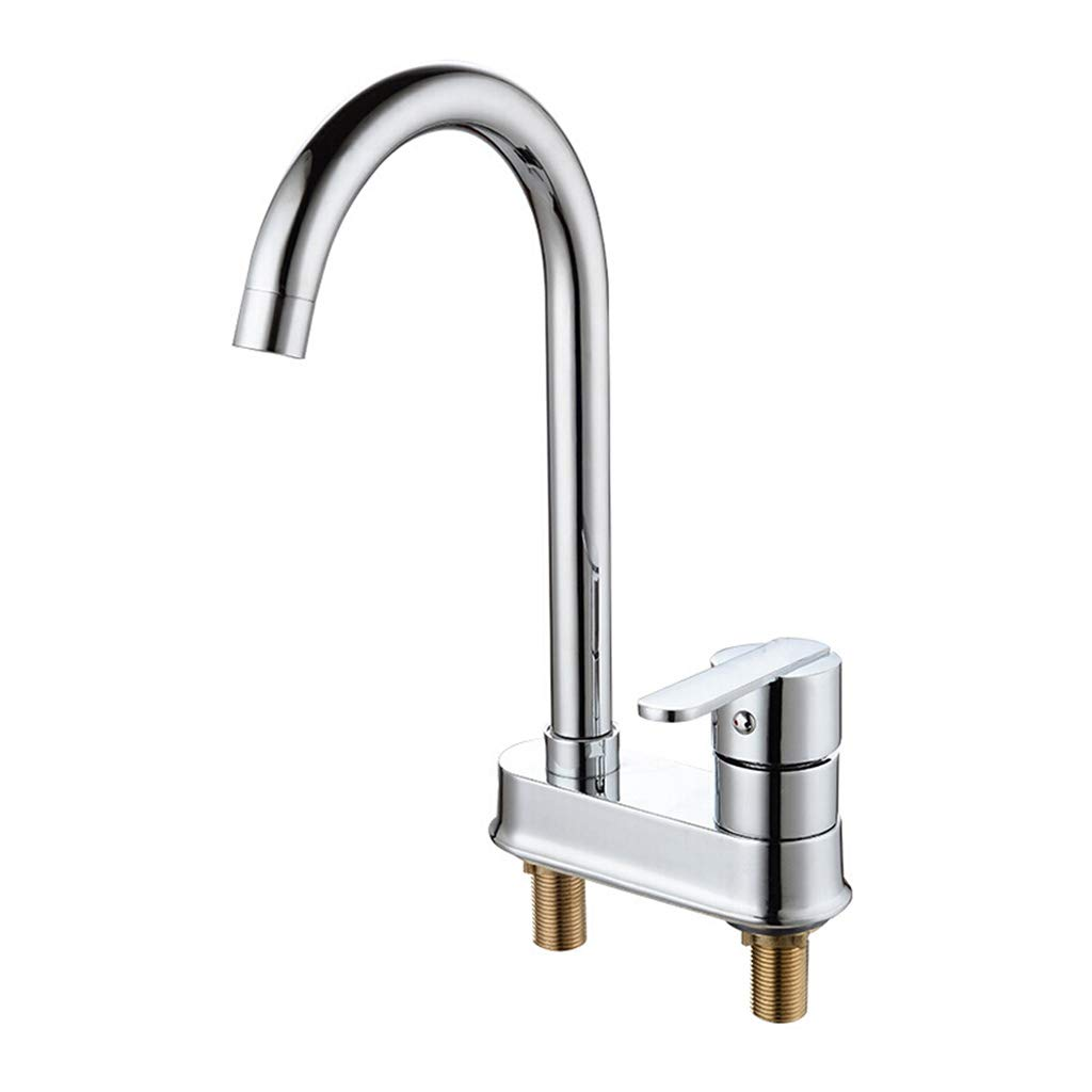 Z-1101 Kitchen Sink Taps Faucet Mixer Taps For Kitchen Basin Chrome Stainless Steel Washroom Sink Faucet Single Lever One Hole Taps Kitchen Sink Tap (color   Z-1256)