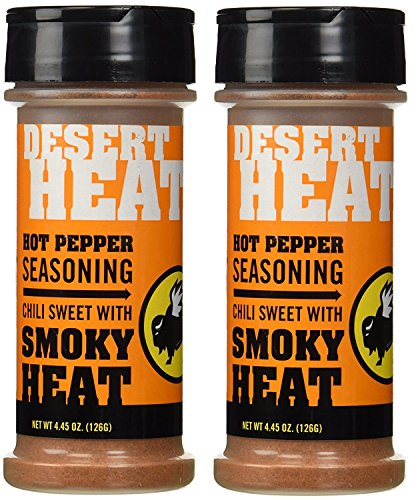 Buffalo Wild Wings Barbecue Sauces, Spices, Seasonings and Rubs For: Meat, Ribs, Rib, Chicken, Pork, Steak, Wings, Turkey, Barbecue, Smoker, Crock-Pot, Oven (Desert Heat, (2) Pack)