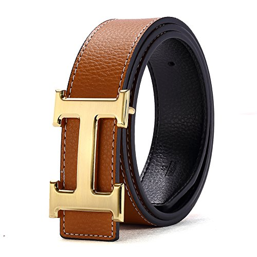 h-belts-for-men-business-casual-leather-belt-15inch-wide-waist-size-28-34-inch-brown-gold