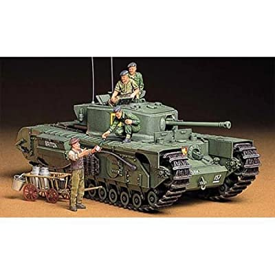 Tamiya America, Inc 1/35 British Churchill MKVII Tank, TAM35210: Toys & Games