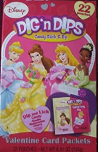 Disney Princess Dig n Dips Valentine Card Packets