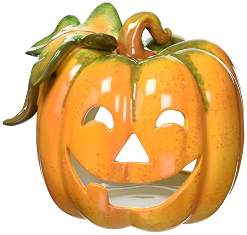 Cosmos 10362 Fine Porcelain Pumpkin Tea Light Holder, ()