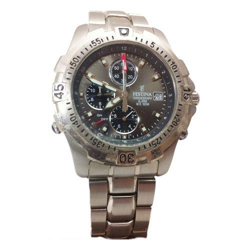 Reloj Festina F16008/6 cronógrafo con esfera gris metalizado: Amazon.es: Relojes