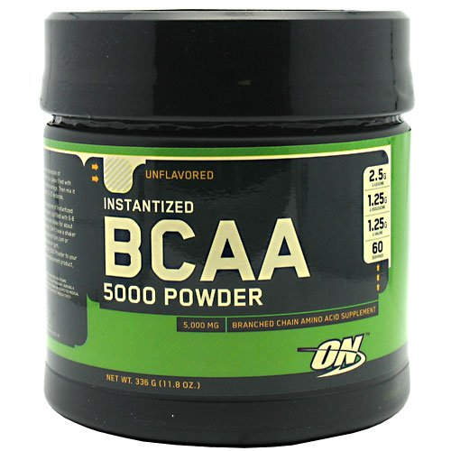 Optimum Nutrition Instantized BCAA 5000mg Powder, Unflavored, 336g