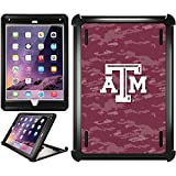 OtterBox iPad Air 2 Black Defender Series Case with Texas A&M Emblem on Camo Design by Coveroo
