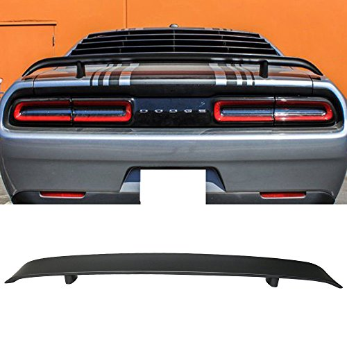 Trunk Spoiler Fits 2008-2019 Dodge Challenger | Factory Style Unpainted ABS Car Exterior Rear Spoiler Wing Tail Roof Top Lid by IKON MOTORSPORTS | 2009 2010 2011 2012 2013 ()