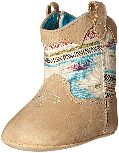 Baby Deer Baby Western Aztex Shaft Boot, Tan, 3 M US Infant
