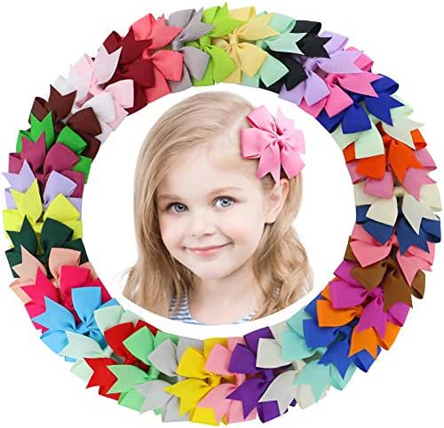Hair bows For Girls Boutique Grosgrain hair bow Clips For Teens Kids toddlers babies outfits
