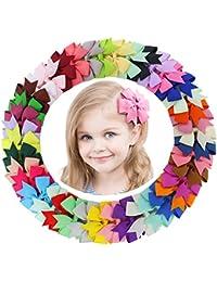 Fortop Baby Girls Boutique Grosgrain Ribbon Pinwheel Hair...