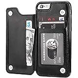 """Capa Case Carteira iPhone 6 e iPhone 6S - Multifuncional 2 em 1 - Porta cartão e case. Tamanho 4.7"""" (iPhone 6/6S Preta)"""