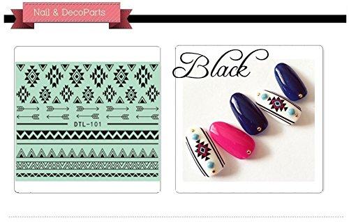 Nail Art 3D Decal Stickers Native Pattern - DTL101 Nail Sticker Tattoo - FashionDancing
