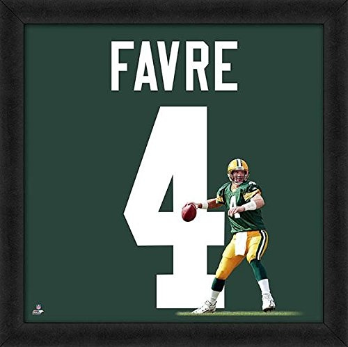 Brett Favre Packers Jersey Uniform 20 x 20 Framed Photo - Licensed NFL Football Collectible (Packers Uniforms)