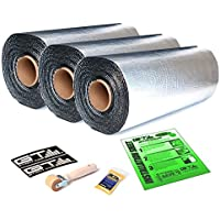125 sqft 18 Wide GTmat Pro 50mil Thick Self-Adhesive Aluminum Auto Automotive Car Sound Deadening Road Noise Dampening Insulation Includes: Roller, Degreaser and Instructions