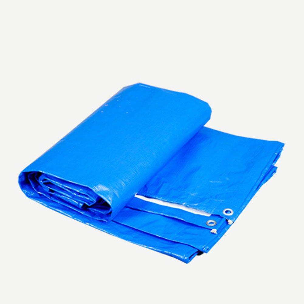 KXBYMX Tarpaulin-Waren-Sonnenschutzisolierungs-Autoabdeckung regendichter Sonnenschutzisolierung Antioxidansblau + weiß Plane wasserdichter, strapazierfähiger, hochwertig