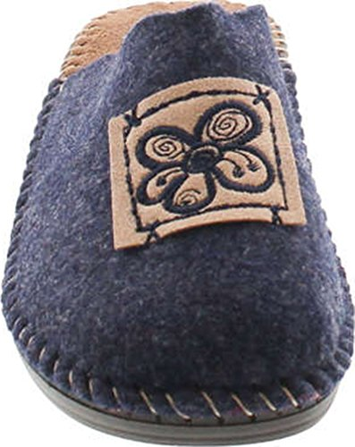 Flower Cozy Home 15217 Made Europe in Wool House Natural SC Navy Collection Slippers Hippie Womens AqxfqBwg