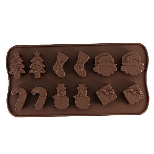 Fangfeen Navidad del Molde del Molde del Chocolate del muñeco de ...
