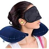 Skyfish cotton neck Travel Pillow, Eye Mask & Ear Plug (multi color)