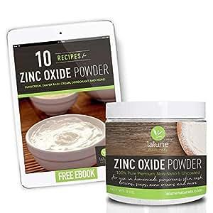 Zinc Oxide Powder Non Nano Uncoated Cosmetic Grade, 1/2 Lb