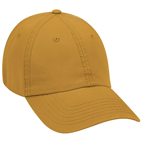 - Product of Ottocap Garment Washed Superior Cotton Twill Six Panel Low Profile Dad Hat -Mustard [Wholesale Price on Bulk]