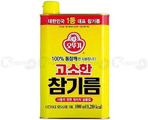 Amazon | [0685] オトギ ごま油 韓国料理に 香ばしい 食用油 1L [並行 ...