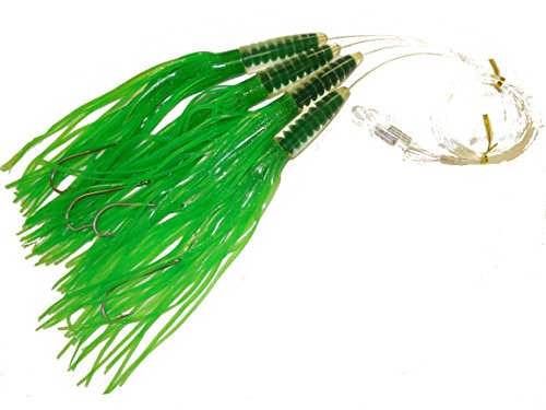 Green Machine 12″ 4 pack fully rigged saltwater fishing lures