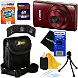 Canon PowerShot ELPH 190 IS Digital Camera with 10x Zoom, 720p HD video and Built-In Wi-Fi, Red (International Version) + 7pc 8GB Accessory Kit w/ HeroFiber Ultra Gentle Cleaning Cloth Review