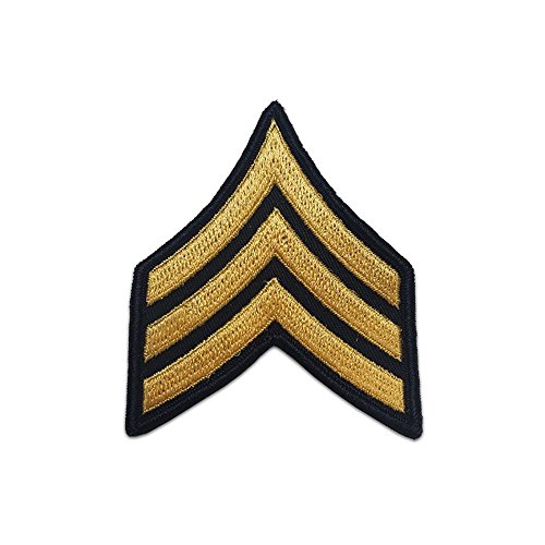 Sergeant Rank Military (US Army Male Rank Gold On Blue Chevrons - Sergeant)