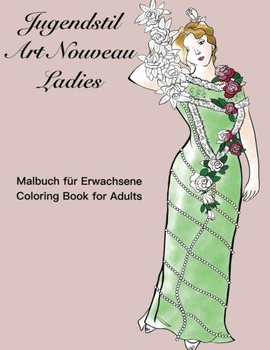 Download Jugendstil Art Nouveau Ladies: Coloring book for adults pdf