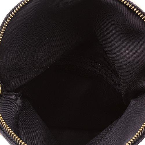 FIRENZE ARTEGIANI.Bolso de mujer piel auténtica.Bolso de mano mujer fibra natural cáñamo.Correa de cadena para hombro. MADE IN ITALY. VERA PELLE ITALIANA. 24x18x3 cm. Color: NEGRO