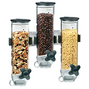 Zevro WM300 Wall Mount SmartSpace Dry Food Triple Dispenser