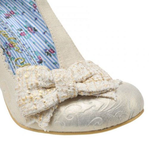 Irregular Choice Floxy Off Weiß Damen Wedding T Bar Hallo Heel Court Schuhe