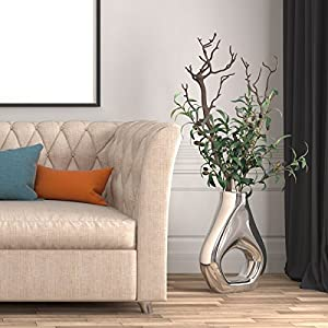 """Warmter 28"""" Artificial Olive Branches Plants Blackish Green Olives Fruit Artificial Greenery UV Resistant Plants Artificial Plant for Indoor Outside Decor 3 Pcs 3"""