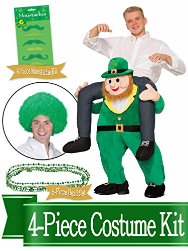 ST Patricks Day Ride-A-Leprechaun Costume and Accessory Kit (Leprechaun Costume Kit)