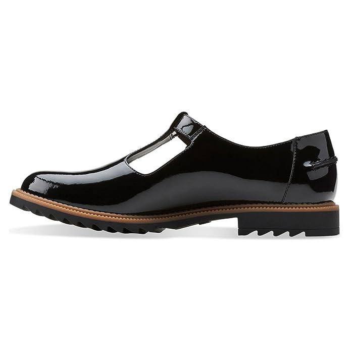 CLARKS Clarks Womens Shoe Griffin Mia Black Patent 3.0 E NWdNJA3W4