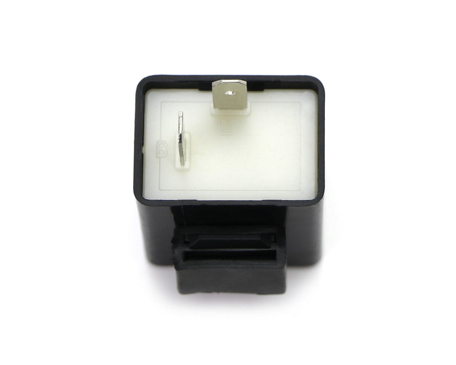 2-Pin Electronic LED Flasher Relay Fix For Motorcycle or Scooter Install LED Turn Signal Bulbs Hyper Flash Issues iJDMTOY 1