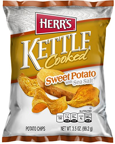 Kettle Cooked Herrs (Herr's - Sweet Potato Chips (KETTLE COOKED), Pack of 20 bags)
